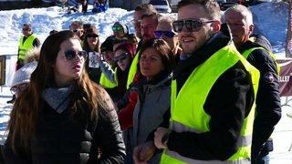 Première course de voitures électriques sur lac gelé à Champex (VS)