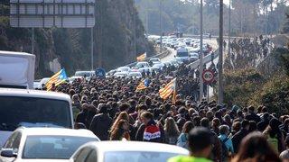 Routes coupées pour protester