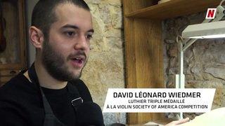 Rencontre avec David Léonard Wiedmer, un Valaisan au firmament de la lutherie dans son atelier à Lyon