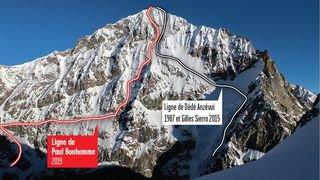Ski: Paul Bonhomme ouvre une nouvelle ligne sur la Dent-Blanche