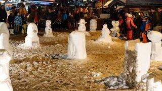 Veysonnaz: les vacanciers sont invités à tailler la neige