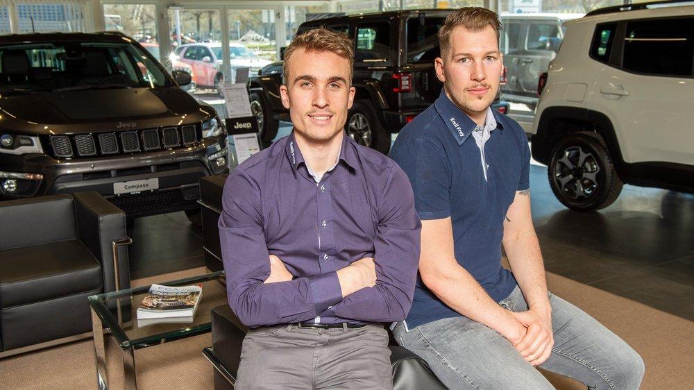 Gauthier Girardin et Jimmy Oudelet se côtoient toute la journée, au sein d'un garage à Sion.