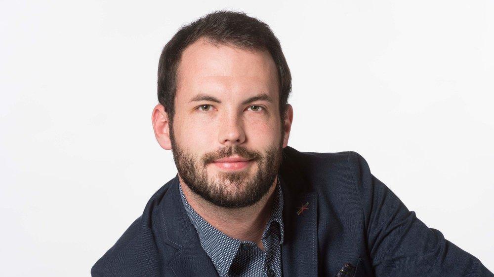 Adrien Délèze, journaliste.
