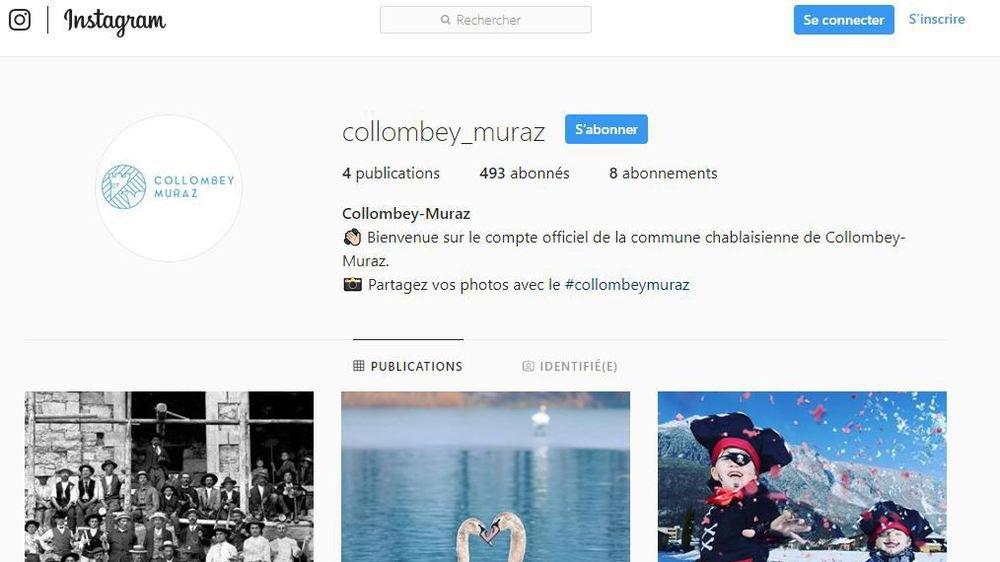 Le compte Instagram de Collombey-Muraz compte actuellement quelque 500 abonnés.