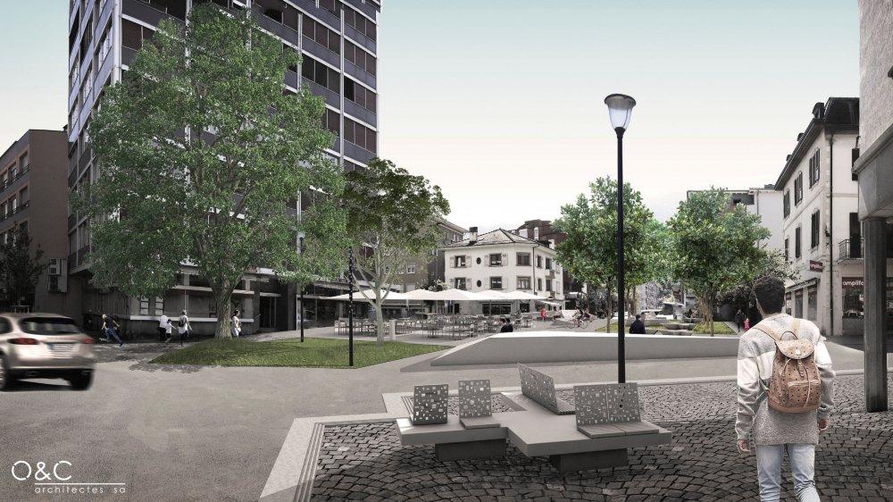 La future place du Comte-Vert deviendra un espace de rencontre où les voitures ne pourront plus circuler.