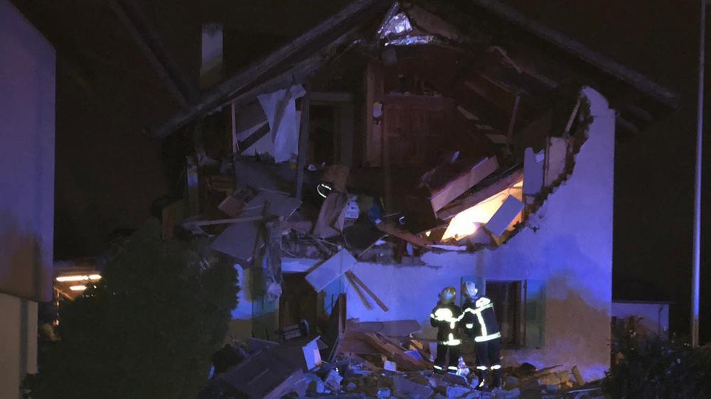Grône: une explosion a détruit la maison du vice-président