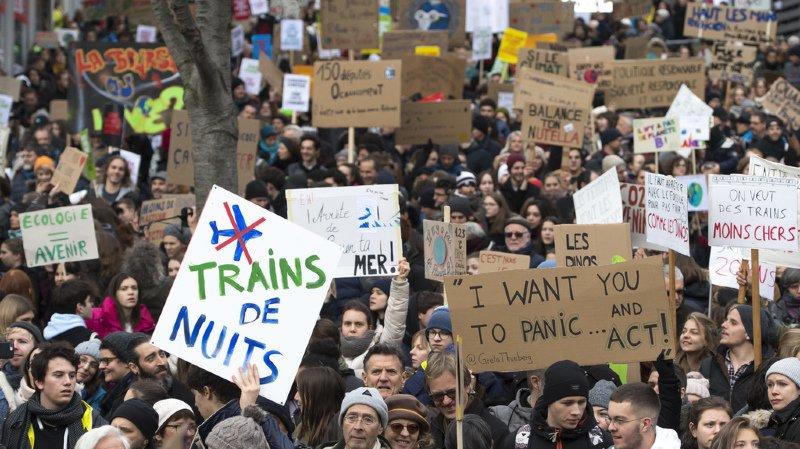 Plus de 10'000 personnes s'étaient mobilisées en février à Lausanne.