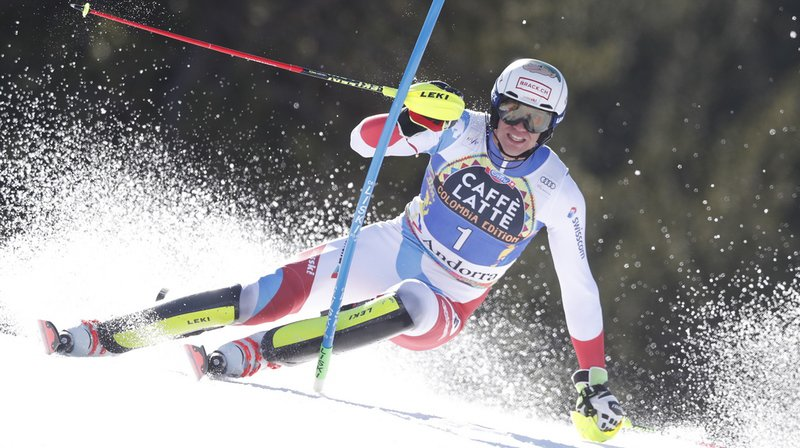 Ski alpin: Zenhäusern 2e et Yule 3e après la première manche du slalom de Soldeu
