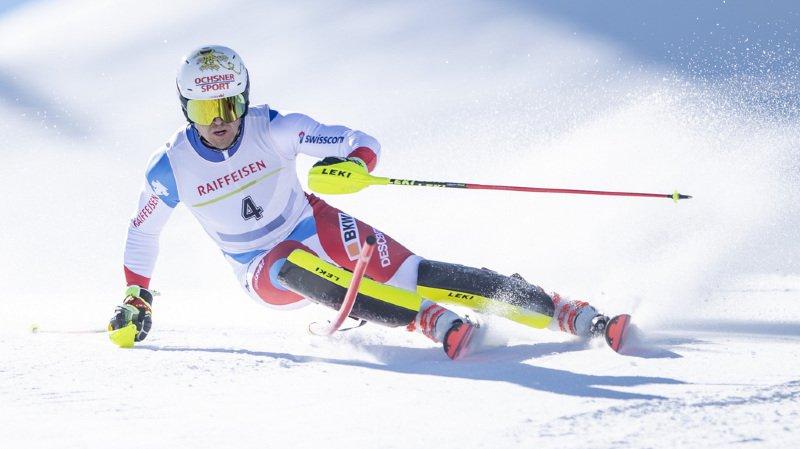 Le skieur d'Hérémence Loïc Meillard remporte son premier titre national en slalom.