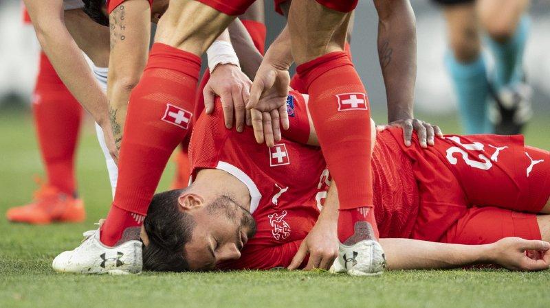 Football: pas de séquelles pour Fabian Schär, victime d'un choc violent face à la Géorgie