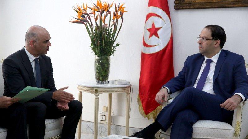 fa543b3541f Le conseiller fédéral a été reçu par le président tunisien Béji Caïd  Essebsi et le chef