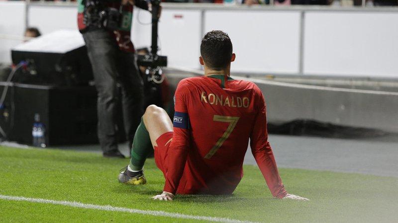 Cristiano Ronaldo s'était blessé lundi avec le Portugal.