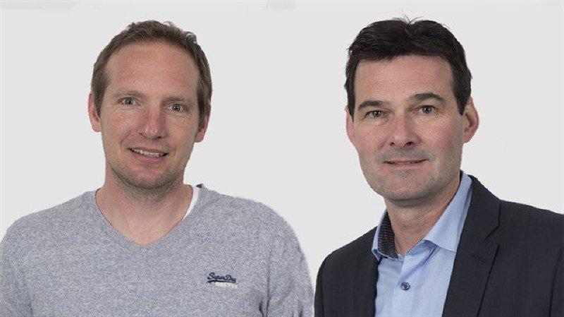 Olivier Duchoud, nouveau président de l'ACCM et David Bagnoud, président du comité directeur.