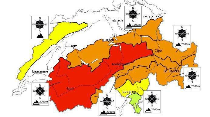 Attention danger: tout le Valais est en zone rouge.