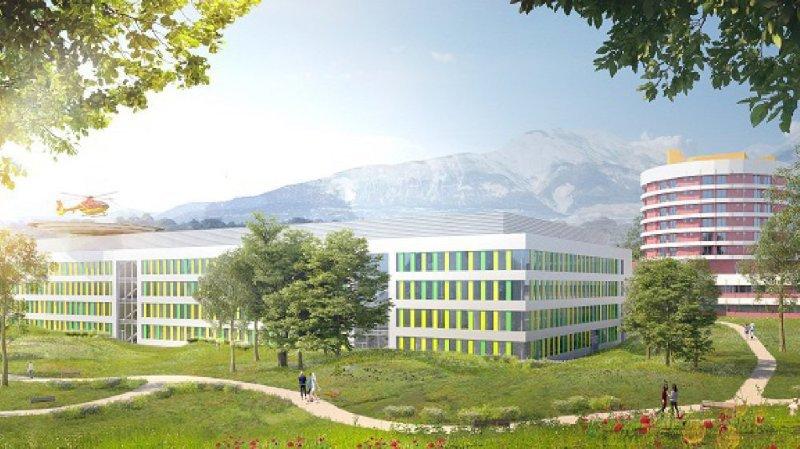La modernisation de l'hôpital de Sion coûtera à elle seule 247,5 millions, montant qui ne comprend pas la construction du nouveau parking.