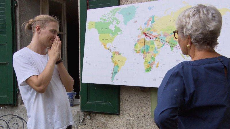 Sur la RTS, un étudiant valaisan mène une retraitée sur la voie de la durabilité