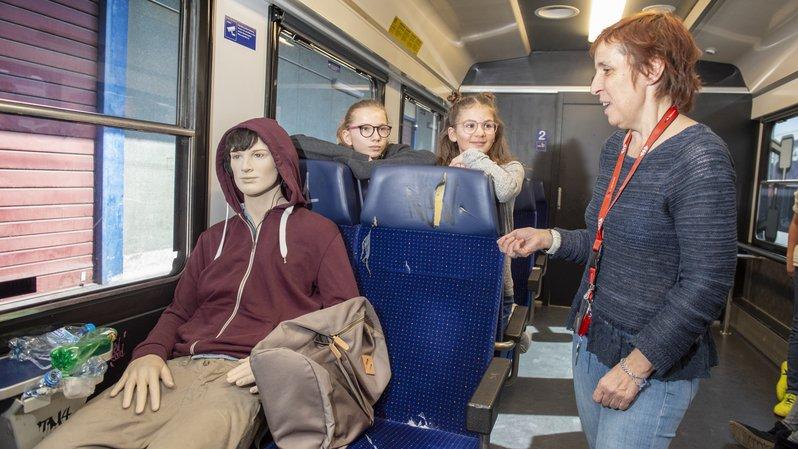 Train école: 700 élèves valaisans rendus attentifs aux incivilités