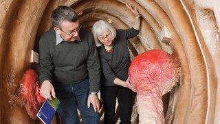 Sion: visite d'un côlon géant pour sensibiliser le public au cancer