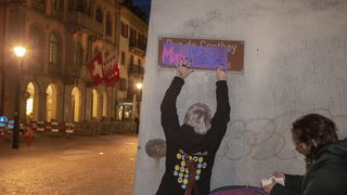 8 mars: le Collectif Femmes Valais remplace les noms de rues du canton par des noms de femmes