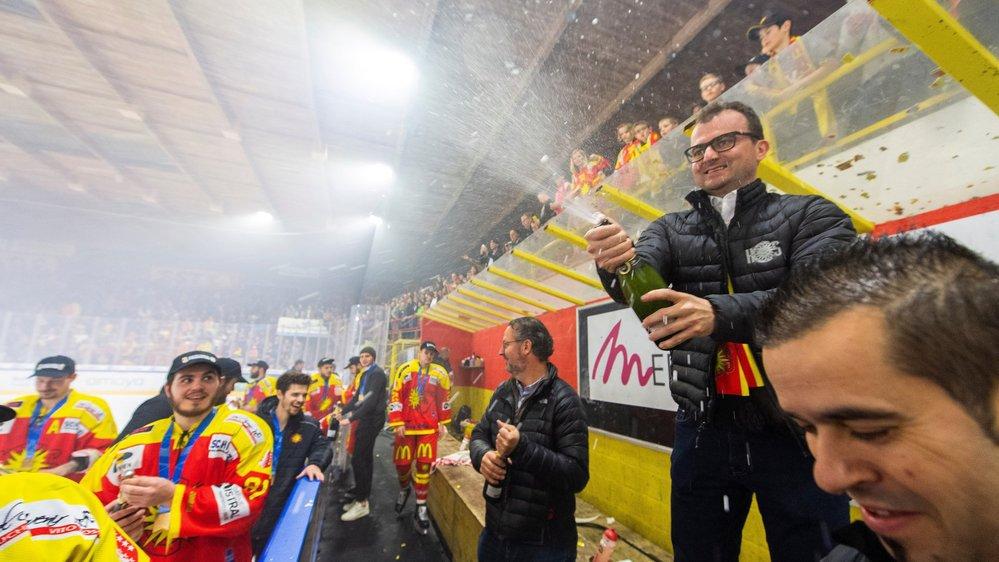 Alain Bonnet, président du HC Sierre, peut sabrer le champagne.