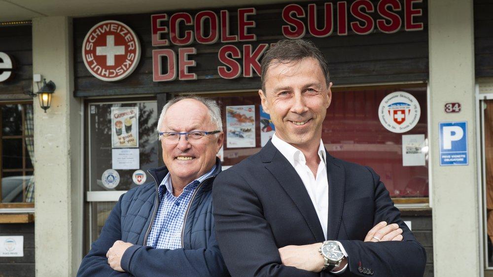 Charly Sierro, membre du comité, et Laurent Seppey, président de l'ESS Thyon - Les Collons, misent sur la diversité.