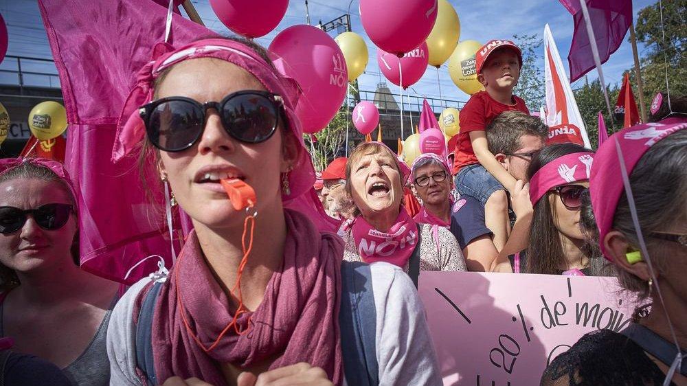 Les Valaisannes se sont mobilisées en septembre dernier à Berne pour l'égalité salariale.