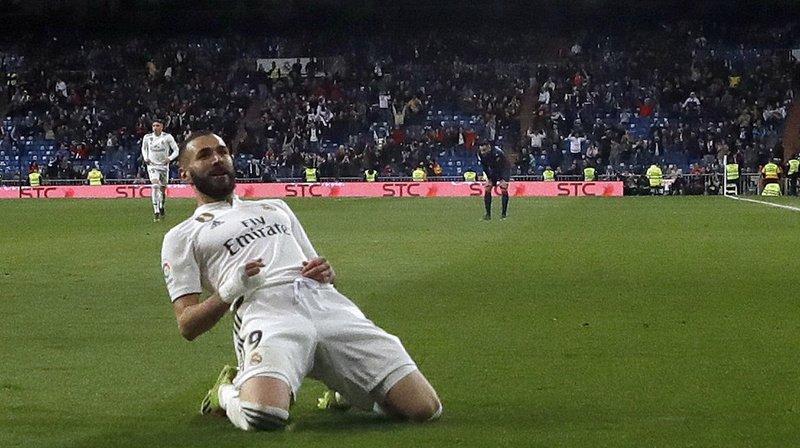 Championnat d'Espagne: Benzema offre au Real un succès 3-2 contre Huesca