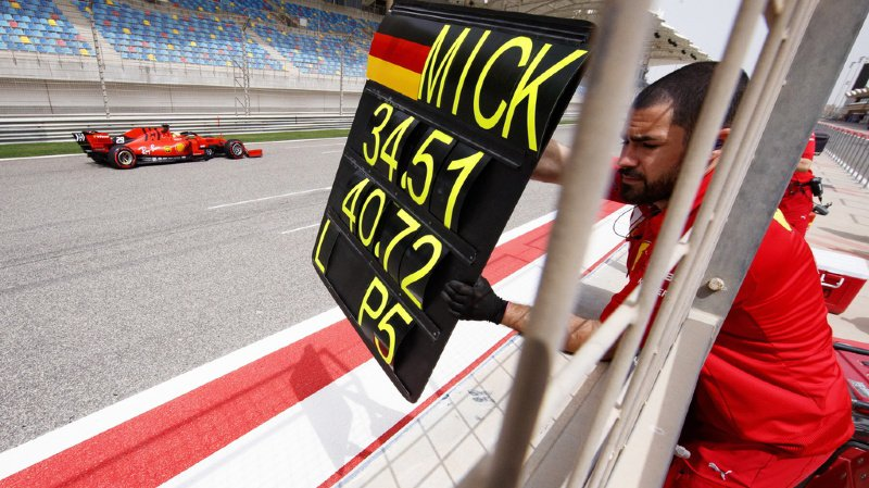 Formule 1: le fils de Michael Schumacher, Mick, a roulé pour la première fois avec sa Ferrari