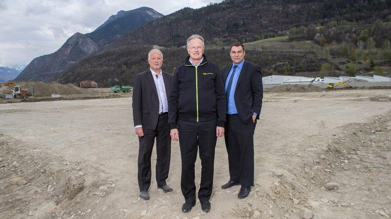 Sierre: la société Eversys pose la première pierre de son futur centre de production de Daval