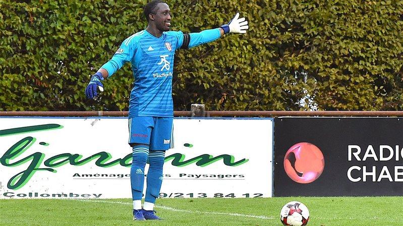 Patrick Tavares Lopes, gardien du FC Conthey. Ce dernier accueille Monthey à l'occasion d'un derby valaisan en 2e ligue inter.