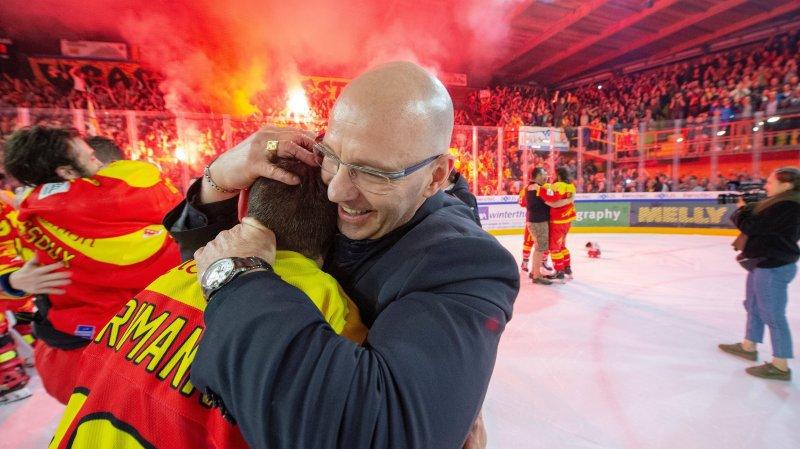 Dany Gelinas était arrivé à Sierre l'été passé. Il a fêté la promotion en Swiss League dès sa première saison.