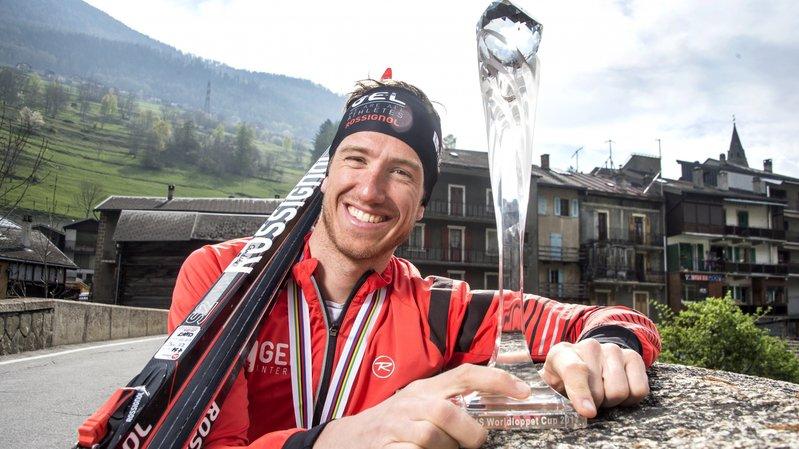 Candide Pralong, vainqueur de la Coupe du monde longue distance de ski de fond en 2017, a dû mettre sa carrière entre parenthèses à cause du syndrome du surentraînement.