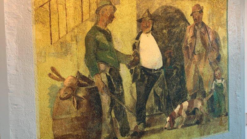 Savièse: la Loterie romande remet en lumière une fresque d'Albert Chavaz