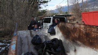 Sierre: 1630kilos de déchets collectés au Bois de Finges