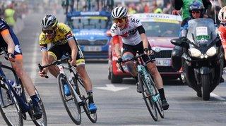 Le cycliste Simon Pellaud a tout tenté lors de la dernière étape du Tour de Normandie