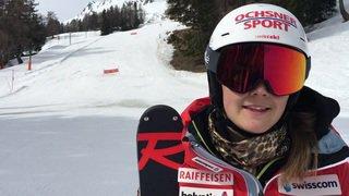 Mélanie Meillard de retour sur les skis