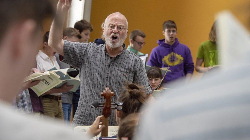 Bernard Héritier, un chef qui a toujours su tirer le meilleur de ses jeunes chanteurs.