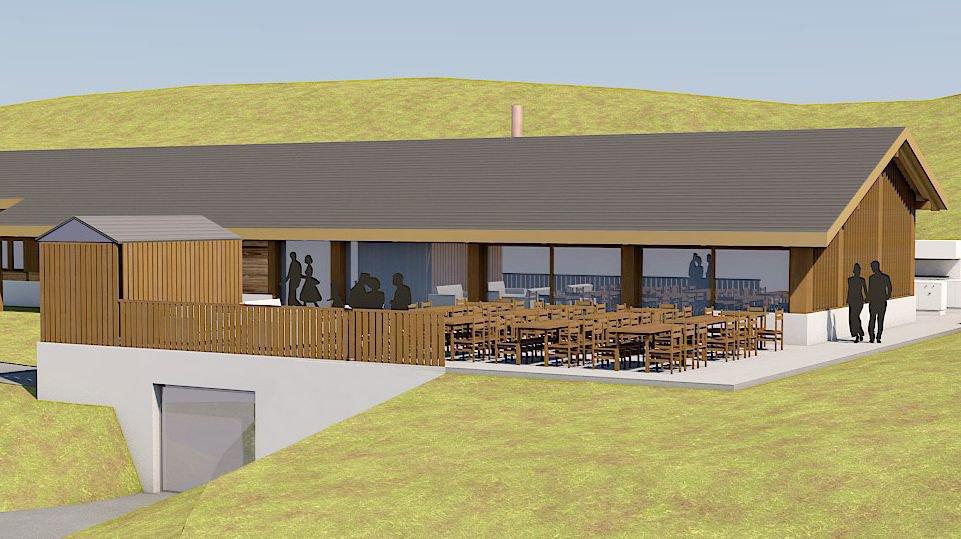 Cette image montre le projet d'agrandissement et de rénovation de la buvette de Sigeroulaz. La capacité d'accueil de l'établissement passera de 30 à 60 places. La bourgeoisie de Chalais investira 1,2 million de francs dans ces opérations qui devraient débuter cet été.