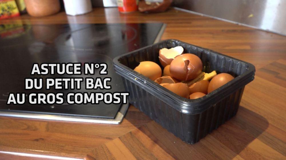 Pour économiser au maximum les sacs taxés, les Moret doivent composter. Pour éviter les trajets quotidiens au compost ou dans les écopoints, la famille a mis au point un petit système qu'on vous décrit ici.