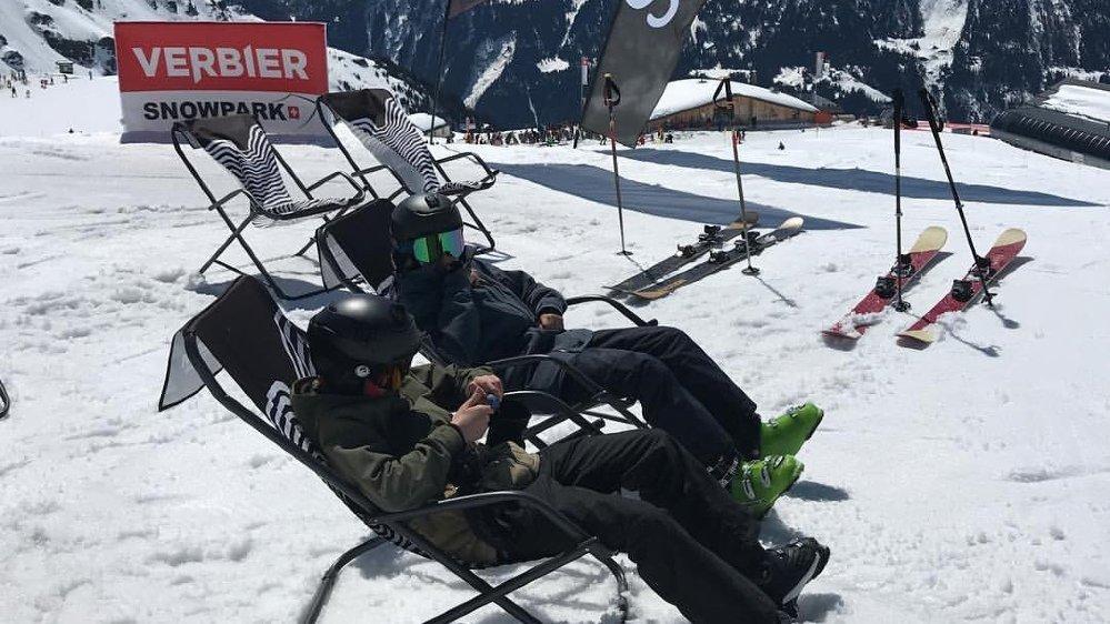 Les amateurs de glisse ont pu se faire plaisir ce week-end dans certaines stations valaisannes, comme ici à Verbier.