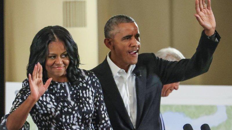 Télévision: le couple Obama produira une série Netflix sur Donald Trump