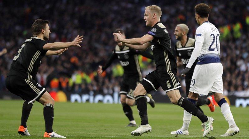 Football - Ligue des champions: l'Ajax s'impose contre Tottenham en match aller des demi-finales