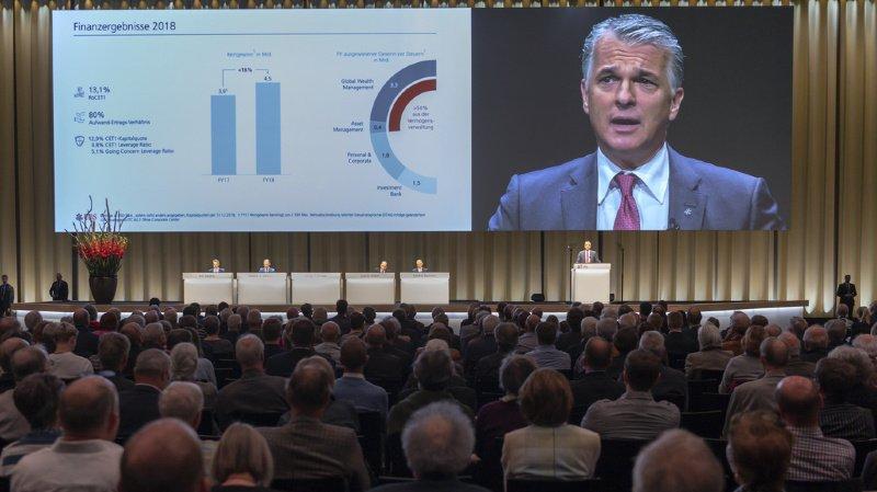 Banques: les actionnaires d'UBS refusent de donner décharge aux dirigeants