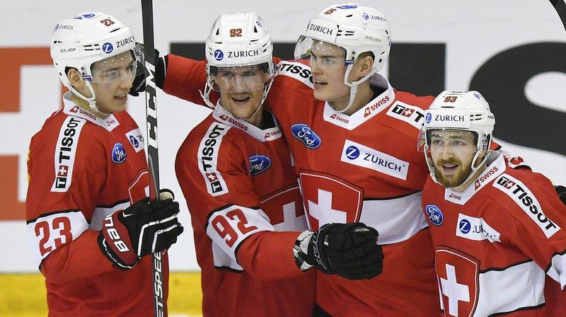 Les joueurs de l'équipe suisse se sont imposés à Herisau, face à la Lettonie.
