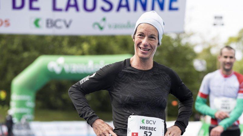 Laura Hrebec, première Suissesse aux 20 km de Lausanne.