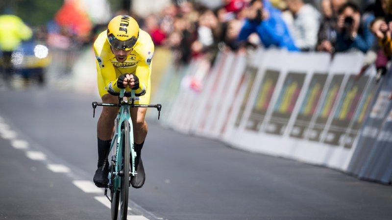 Cyclisme: le Slovène Primoz Roglic remporte le contre-la-montre et le Tour de Romandie 2019