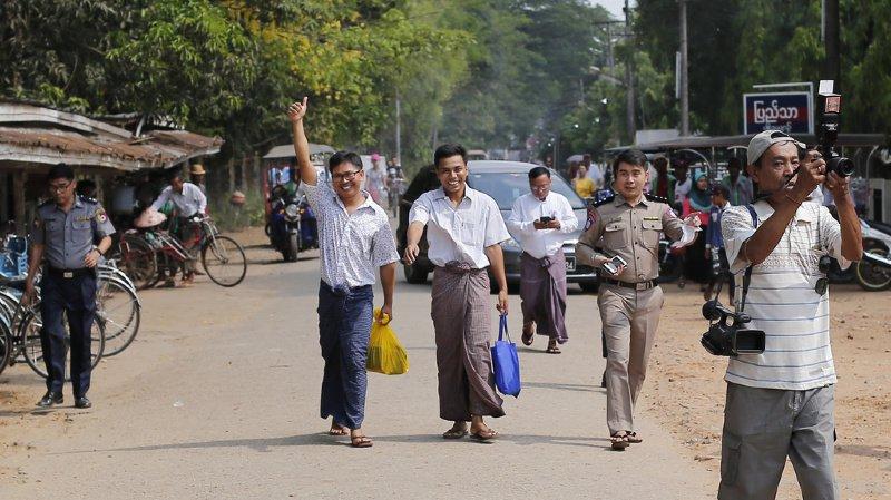 Birmanie: les deux journalistes Reuters libérés grâce à une amnistie présidentielle