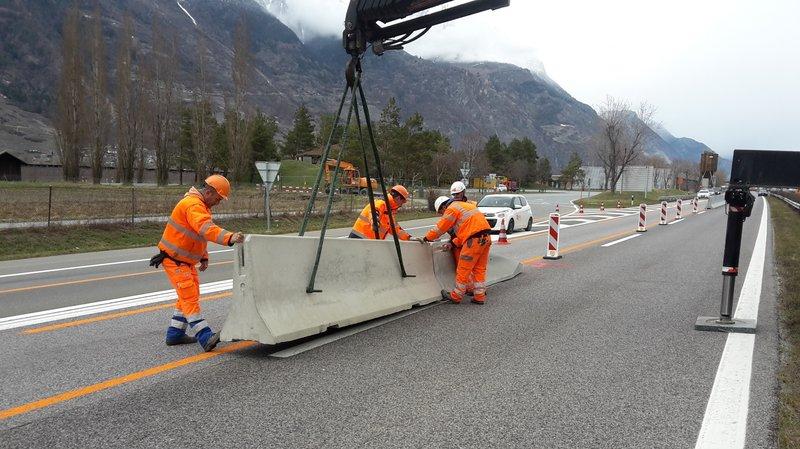 Chantier de l'A9 en Valais: des restrictions de circulation à venir