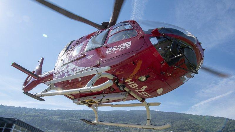 Sauvetages en hausse pour Air-Glaciers cet hiver avec 1696 opérations héliportées