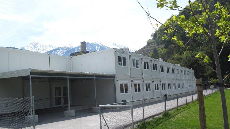 Parmi les investissements réalisés en 2018 figure l'extension de l'école provisoire de la Bâtiaz.